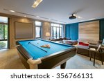 blue pool in luxury recreation... | Shutterstock . vector #356766131