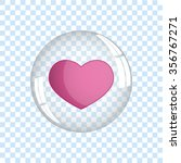 heart bubble icon vector... | Shutterstock .eps vector #356767271