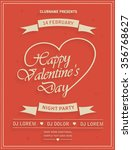 valentines day retro party... | Shutterstock .eps vector #356768627