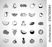 thin line fruits icons set  ... | Shutterstock .eps vector #356780084