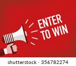 enter to win | Shutterstock .eps vector #356782274