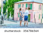 young romantic couple having a... | Shutterstock . vector #356786564