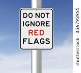 a modified sign on red flags  | Shutterstock . vector #356793935