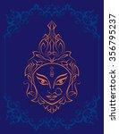 durga goddess of power  art | Shutterstock . vector #356795237