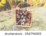 Firewood Basket Outside On...