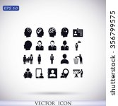 business man icons | Shutterstock .eps vector #356799575