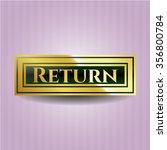 return golden badge | Shutterstock .eps vector #356800784