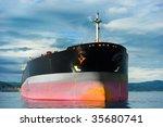 anchored empty tanker ship... | Shutterstock . vector #35680741
