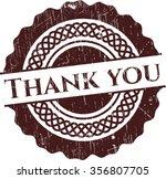 Thank You Grunge Stamp