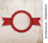 realistic winter big sale paper ... | Shutterstock . vector #356818424