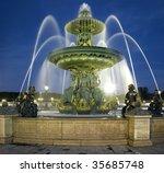 France  Paris  Fountain At The...