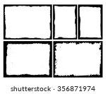 grunge frame texture set  ... | Shutterstock .eps vector #356871974