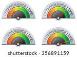 performance meter   4 stage ... | Shutterstock .eps vector #356891159