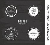 abstract coffee labels on a... | Shutterstock .eps vector #356896409