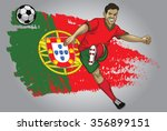 portugal soccer player with... | Shutterstock .eps vector #356899151
