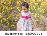 adorable girl smiling on... | Shutterstock . vector #356903321