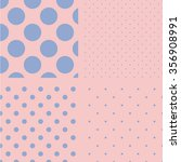 polka dot set. seamless pattern.... | Shutterstock .eps vector #356908991