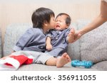 boy and girl lovely  | Shutterstock . vector #356911055