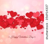 happy valentines day and...   Shutterstock .eps vector #356914337
