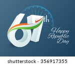 3d text 67th with national flag ... | Shutterstock .eps vector #356917355