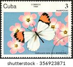 cuba   circa 1984  a stamp... | Shutterstock . vector #356923871