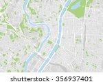 vector city map of lyon  france | Shutterstock .eps vector #356937401