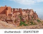 red rocks and decorated old... | Shutterstock . vector #356937839