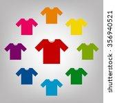t shirt icon illustration.... | Shutterstock . vector #356940521
