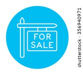 for sale signboard line icon... | Shutterstock .eps vector #356940971