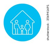 family house line icon for web  ... | Shutterstock .eps vector #356941691