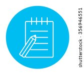 writing pad and pen line icon... | Shutterstock .eps vector #356946551
