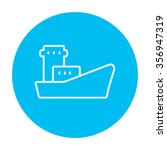 cargo container ship line icon... | Shutterstock .eps vector #356947319