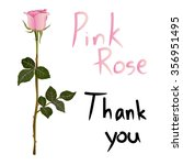 Pink Rose Meaning Isolated On...