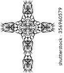 tattoo christian cross raster... | Shutterstock . vector #356960579