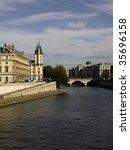france  paris  panoramic view... | Shutterstock . vector #35696158