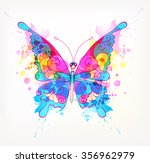 fantasy watercolor vector... | Shutterstock .eps vector #356962979