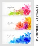 watercolor vector background... | Shutterstock .eps vector #356963159