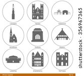African Capitals. Icon Set ...