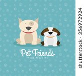 abstract pet shop background... | Shutterstock .eps vector #356972924