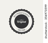 abstract premium quality label... | Shutterstock .eps vector #356973599