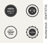 abstract premium quality labels ... | Shutterstock .eps vector #356973731