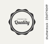 abstract premium quality label... | Shutterstock .eps vector #356974049