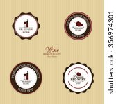abstract wine labels on a... | Shutterstock .eps vector #356974301