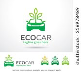 eco car logo template design... | Shutterstock .eps vector #356978489