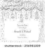 unique vector wedding cards... | Shutterstock .eps vector #356981009