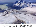 Small photo of Glacier Heading Downhill on Four Peaked Mountain in the Alaska Peninsula