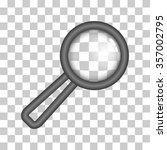 gray magnifying glass | Shutterstock . vector #357002795