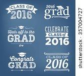2016 graduation vector set  ... | Shutterstock .eps vector #357004727