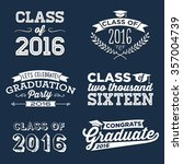 2016 graduation vector set  ...