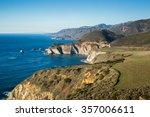 pacific ocean coastline and... | Shutterstock . vector #357006611